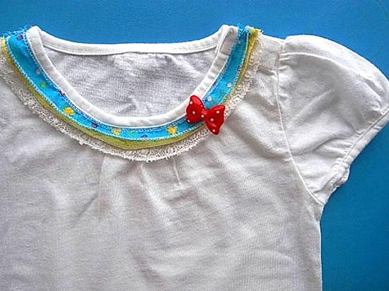 子供コラージュTシャツ