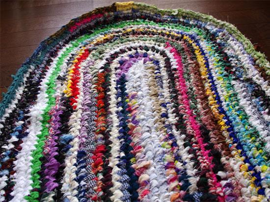 師匠のでっかいさき編みマット