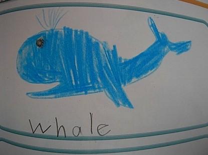 りりちゃんが描いた鯨