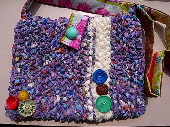 師匠のさき編みショルダーバック