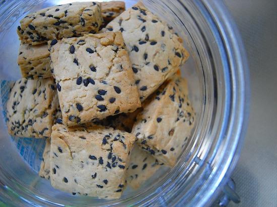メイプルシロップとごまのクッキー