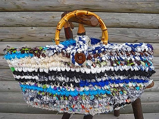 師匠のさき編みかごバック