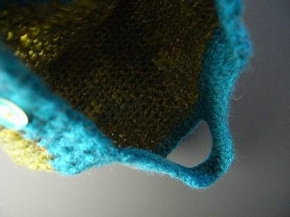 師匠の四角い毛糸のバック