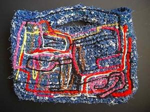師匠の裂き編みバック